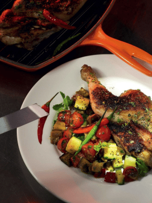 Tumblr, Blog, and Chicken: marriedfood:Chicken marinated in hot spices with vegetables recipe
