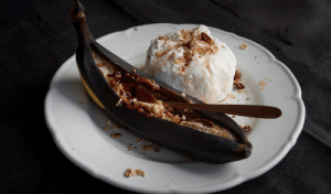 Tumblr, Blog, and Ice Cream: marriedfood:Grilled bananas with ice cream recipe