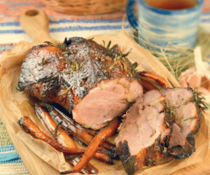 marriedfood: Roasted pork neck with carrots and honeyrecipe: marriedfood: Roasted pork neck with carrots and honeyrecipe