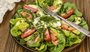 Tumblr, Avocado, and Blog: marriedfood:Roman salad with avocado, salted salmon and egg recipe