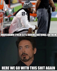 It doesn't matter what side you take. Y'all def thought this. https://t.co/hSkxds96iS: MARSHAWN LYNCH SITS DURING NATIONAL ANTHEM  HERE WE GO WITH THIS SHIT AGAIN It doesn't matter what side you take. Y'all def thought this. https://t.co/hSkxds96iS