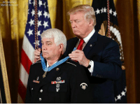 America, Guns, and Memes: Mart President DonaldTrump bestows the nation's highest military honor, the Medal of Honor to retired Army medic James McCloughan during a ceremony in the East Room of the White House. McCloughan is credited with saving the lives of members of his platoon nearly 50 years ago in the Battle of Nui Yon Hill in Vietnam. . . Conservative America SupportOurTroops American Gun Constitution Politics TrumpTrain President Jobs Capitalism Military MikePence TeaParty Republican Mattis TrumpPence Guns AmericaFirst USA Political Freedom Liberty Veteran Patriot Prolife Government PresidentTrump Partners @conservative_panda @reasonoveremotion @conservative.american @too_savage_for_democrats @conservative.nation1776 @keepamerica.usa -------------------- Contact me ●Email- RaisedRightAlwaysRight@gmail.com ●KIK- @Raised_Right_ ●Send me letters! Raised Right, 5753 Hwy 85 North, 2486 Crestview, Fl 32536