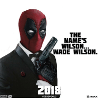Memes, Psych, and 🤖: MARTEL  THE  NAME'S  WILSON.  WADE WILSON.  #DEADPOOL 2 So psyched for this, write Deadpoolnation if you are too. @mutant101 Follow @deadpoolfacts for your daily deadpool dose. deadpool deadpoolmovie deadpoolfacts deadpoolnation wadewilson mercwithamouth maximimeffort marvelnation ryanreynolds dopinder moviequote moviescene mcu marvelcinematicuniverse 20thcenturyfox lmao😂😂😂 lmaobruh hehehe hahahaha @vancityreynolds