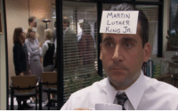 Papa John in Racial Sensitivity Training circa 2018: MARTIN  HRV LUTHE  KING JR. Papa John in Racial Sensitivity Training circa 2018
