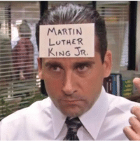 Happy mlk day guys!! theoffice michaelscott nbc: MARTIN  LUTHER  KING JR Happy mlk day guys!! theoffice michaelscott nbc