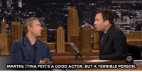 "<p><a href=""http://www.nbc.com/the-tonight-show/video/martin-freeman-embarrassed-himself-filming-karaoke-for-whiskey-tango-foxtrot/2994212"" target=""_blank"">Jimmy and Martin Freeman both agree on what their friend Tina Fey is really like</a>&hellip;<br/></p>: MARTIN: [TINA FEY1'S A GOOD ACTOR, BUT A TERRIBLE PERSON <p><a href=""http://www.nbc.com/the-tonight-show/video/martin-freeman-embarrassed-himself-filming-karaoke-for-whiskey-tango-foxtrot/2994212"" target=""_blank"">Jimmy and Martin Freeman both agree on what their friend Tina Fey is really like</a>&hellip;<br/></p>"