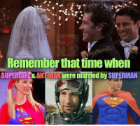 About time.: MARVE  alMarve  Remember that time wher  SUPERGI&ANTe MA  Nwere married by SUPERMAN About time.