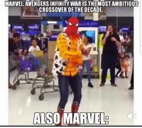 "Tumblr, Avengers, and Blog: MARVEL:AVENGERS INFINITY WARIS THEMOSTAMBITIOUS  CROSSOVER OFTHEDECADE  GALAXY  AISO MARVEL <p><a href=""http://awesomesthesia.tumblr.com/post/174016423298/oh-marvel"" class=""tumblr_blog"">awesomesthesia</a>:</p>  <blockquote><p>Oh Marvel…</p></blockquote>"