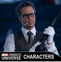 Iron Man, Ironic, and Memes: MARVEL  CHARACTERS  UNIVERSE JUSTIN HAMMER  Portrayed by: - SAM ROCKWELL (2010-2014)  Appearances: - IRON MAN 2 (2010) - ALL HAIL THE KING (2014)  Justin Hammer was a business rival of Tony Stark and the CEO of Hammer Industries until his dealings with terrorist Ivan Vanko led to his arrest.