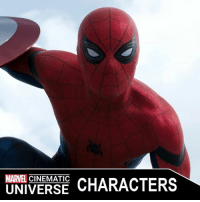 America, Captain America: Civil War, and Memes: MARVEL  CHARACTERS  UNIVERSE SPIDER-MAN (PETER PARKER)  Portrayed by: - TOM HOLLAND (2016-PRESENT)  Appearances: - CAPTAIN AMERICA: CIVIL WAR (2016) - SPIDER-MAN: HOMECOMING (2017)  Peter Benjamin Parker is a high school student and a superhero who possesses spider-like abilities under the alter ego of Spider-Man. Despite his best efforts to keep his identity secret from the world, he was recruited by Tony Stark to join the Avengers Civil War, gaining a new suit and technology in exchange.