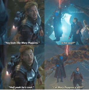 """I'm Marry Poppins y'all!! via /r/wholesomememes https://ift.tt/2Z2ZaGK: marvel.dc.scenes  """"You look like Mary Poppins.""""  """"Is he cool?""""  """"Hell yeah he's cool.""""  """"I'm Mary Poppins y'all!!!"""" I'm Marry Poppins y'all!! via /r/wholesomememes https://ift.tt/2Z2ZaGK"""