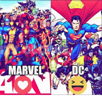 Thumbs up for both!: MARVEL DC Thumbs up for both!