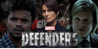 Eka Darville (Malcolm Ducasse), Carrie-Anne Moss (Jeri Hogarth), and Elden Henson (Foggy Nelson) are back for THE DEFENDERS! http://bit.ly/2eROuFV  (Andrew Gifford): MARVEL  DEFENDER Eka Darville (Malcolm Ducasse), Carrie-Anne Moss (Jeri Hogarth), and Elden Henson (Foggy Nelson) are back for THE DEFENDERS! http://bit.ly/2eROuFV  (Andrew Gifford)