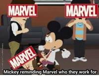 South Park, Darkseid, and Comics: MARVEL  MARVEL  Mickey reminding Marvel who they work for Love south park.- DarkseidΩ #GothamCityMemes