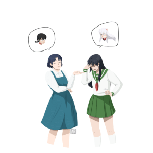 "Target, Tumblr, and Best: marvel-overlord:  artofnana:  Akane and Kagome bonding over their emotionally constipated boys  ""emotionally constipated"" is probably the best description of their personalities I've come across so far so thanks for that and the great art"