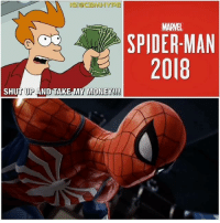 Batman, Definitely, and Memes: MARVEL  SPIDER-MAN  2018  SHUT UP AND TAKE MY MONEY! Spiderman PS4 E3 Gameplay has revealed that MilesMorales will be in the game. Hopefully we get to play as him 🙏. I'm definitely hyped for this game because it's a combination of the Batman Arkham games and Uncharted game series. The combat and web slinging mechanics are superb and amazing! What is your thought on this and will you get the game?🤔| - Be sure to Follow and Tag a Friend👇 - SpidermanHomecoming marvel marveluniverse comics Sony marvelcomics dc thanos theavengers superhero captainamerica PS4 thor mcu spiderman tomholland deadpool theamazingspiderman marvelcinematicuniverse justiceleague ironman avengers ultimatespiderman videogame civilwar batman infinitywar marvelcomics dccomics