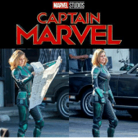 First look at Brie Larson in costume as CAPTAIN MARVEL!  (Andrew Gifford): MARVEL STUDIOS  CAPTAIN  MARVEL First look at Brie Larson in costume as CAPTAIN MARVEL!  (Andrew Gifford)