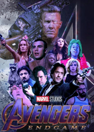 I think I have the wrong poster for Endgame.: MARVEL STUDIOS  E N D G  JE I think I have the wrong poster for Endgame.
