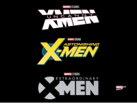 What would you title an X-MEN movie set in the MCU?  (Andrew Gifford): MARVEL STUDIOS  U N CANN  MARVEL STUDIOS  ASTONISHING  MEN  MARVEL STUDIOS  EXTRAORDINARY  MARME  ovs  REA What would you title an X-MEN movie set in the MCU?  (Andrew Gifford)