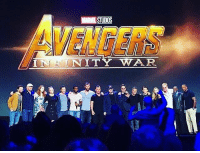 Memes, Avengers, and Infinity: MARVEL STUDIOS  VENGERS  INITY WAR The Avengers: Infinity War trailer HAS been shown at D23, so let's hope we get the trailer before low quality cam footage gets out. 😩