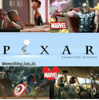 Disney, Memes, and Nerd: MARVEL  X A R  ANIMATION STUDIOS  @everything but de  MARVEL Disney and Marvel in potential talks for a possibility of a Pixar-Marvel or Starwars movie in the future 🤓 I'M GAME! nerd geek marvel avengers ironman captainamerica spiderman doctorstrange thor hulk antman disney blackpanther mcu infinitywar disney Pixar incredibles toystory dc batman superman wonderwoman starwars pokemon
