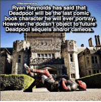 🔥 Do you think he will play Deadpool as long as Jackman played Wolverine? 🤔 👇👇👇👇 Follow @deadpoolfacts for your daily Deadpool dose. 👏👏👏👏 @vancityreynolds 🙌 wadewilson mercwithamouth marvelnation deadpoolfacts deadpoolnation deadpool marvel deadpool2 antihero lolz lmaobruh hahaha lmfao heh hehe MarvelousJokes: @MarvelousFacts  Ryan Reynolds has said that  Deadpool will be the last comic  book character he will ever portray.  However, he doesn't object to future  Dead pool sequels and/or cameos. 🔥 Do you think he will play Deadpool as long as Jackman played Wolverine? 🤔 👇👇👇👇 Follow @deadpoolfacts for your daily Deadpool dose. 👏👏👏👏 @vancityreynolds 🙌 wadewilson mercwithamouth marvelnation deadpoolfacts deadpoolnation deadpool marvel deadpool2 antihero lolz lmaobruh hahaha lmfao heh hehe MarvelousJokes