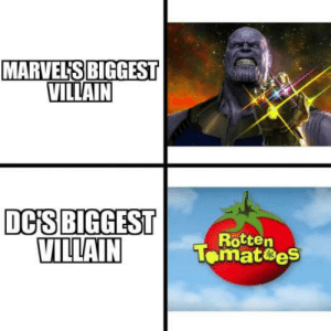 marvels: MARVEL'S BIGGEST  VILLAIN  DCİS|BIGGEST  VILLAIN  Rotten  Tomat8eS