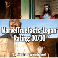 Memes, X-Men, and Hugh Jackman: MarvelTrueFacts Logant  Rating 10/10  Spoilerfree review below! Let me start off by saying thank you to @thehughjackman for giving us 17 years of a truly amazing character. You gave the fans the Wolverine movie they deserved. 👏🏻 I left the theater after seeing Logan speechless, emotional, and satisfied. This has got to be the greatest comicbook movie I have ever seen. The editing, dialogue, character development and interactions, camera shots, emotions, conflict, the humor, and special effects were all top notch! It's going to take a lot for any movie to top what this one has done. 🙌🏻 From the beginning of the film we got to see a Wolverine that we've been wanting for so long.. violent, bloody, and bad mouthed. The amount of violence and gore in this movie was great. Finally a film where we get to see Wolverine take limbs off, see blood spatter everywhere, and say the word fuck more than once. The lack of mutants in the film really help set the story as well. Logan is living in a world where he only has a few people left that he cares for. It shows the true bond that mutants have now that there's no war among them. He really cares about the people around him, even if he's too stubborn to admit it. His healing factor being as weak as it is shows us a deeper, more emotional side to Logan. He's finally facing his mortality after so many years. It's an entirely different dynamic than we have seen in previous X-Men films. The introduction of X-23 and her powers was outstanding!The interaction between Logan and Charles is one that'll stick with me for a while. Every scene, every word between them was just amazing. All the past references really got me. The ending though.. that's what makes it all meaningful, it's make it emotional, and it makes it real. It'll leave you speechless. The way this film progresses from beginning to end will make you appreciate every time Hugh Jackman and Sir Patrick Stewart have portrayed their characters and have been so committed. No one can ever replace them. I've been watching the X-Men films since 2000 and this truly is the end of an era. Bravo to the entire Logan cast and crew! 👏🏻👏🏻