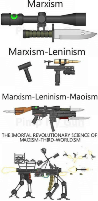 Dank, Science, and 🤖: Marxism  Marxism-Leninism  Marxism-Leninism-Maoism  THE IMORTAL REVOLUTIONARY SCIENCE OF  MAOISM-THIRD WORLDISM