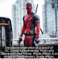Villains tonystark ironman marvel RDJ hulk avengers comics thor sciencebros marvelmovies blackwidow hawkeye captainamerica starkindustries steverogers teamstark teamcap robertdowneyjr geek superhero superheroes ironman1 ironman2 ironman3 gaurdiansofthegalaxy captainamericacivilwar civilwar marvelcomics marveluniverse: Mary  facts  Fact #27  Deadpool originated as a spoof of  DC Comic's Deathstroke. That's why  Deadpool's real name, Wade Wilson, is so  similar to Deathstroke's, Slade Wilson. Villains tonystark ironman marvel RDJ hulk avengers comics thor sciencebros marvelmovies blackwidow hawkeye captainamerica starkindustries steverogers teamstark teamcap robertdowneyjr geek superhero superheroes ironman1 ironman2 ironman3 gaurdiansofthegalaxy captainamericacivilwar civilwar marvelcomics marveluniverse
