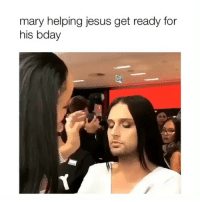 Sis is flexin on Judas with this look (twitter-mascfemme): mary helping jesus get ready for  his bday Sis is flexin on Judas with this look (twitter-mascfemme)
