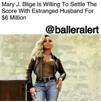 Mary J. Blige Is Willing To Settle The Score With Estranged Husband For $6 Million - blogged by @MsJennyb ⠀⠀⠀⠀⠀⠀⠀ ⠀⠀⠀⠀⠀⠀⠀ As the legal battle continues between MaryJBlige and estranged husband, KenduIssacs, TMZ reports that Blige says she is willing to cut her ex some slack - for a price. ⠀⠀⠀⠀⠀⠀⠀ ⠀⠀⠀⠀⠀⠀⠀ In new docs obtained by the publication, Blige says their community estate is in the red, worth negative $11,622,614. Since most of the money is owed to Uncle Sam, Blige has proposed a new solution for Issacs. She says if he coughs up $6 million that will his portion of the large debt. ⠀⠀⠀⠀⠀⠀⠀ ⠀⠀⠀⠀⠀⠀⠀ In addition, Blige believes she shouldn't be responsible for any spousal support, especially since she is handling most of the debt and he refuses to get a job.: Mary J. Blige ls Willing To Settle The  Score With Estranged Husband For  $6 Million  @balleralert Mary J. Blige Is Willing To Settle The Score With Estranged Husband For $6 Million - blogged by @MsJennyb ⠀⠀⠀⠀⠀⠀⠀ ⠀⠀⠀⠀⠀⠀⠀ As the legal battle continues between MaryJBlige and estranged husband, KenduIssacs, TMZ reports that Blige says she is willing to cut her ex some slack - for a price. ⠀⠀⠀⠀⠀⠀⠀ ⠀⠀⠀⠀⠀⠀⠀ In new docs obtained by the publication, Blige says their community estate is in the red, worth negative $11,622,614. Since most of the money is owed to Uncle Sam, Blige has proposed a new solution for Issacs. She says if he coughs up $6 million that will his portion of the large debt. ⠀⠀⠀⠀⠀⠀⠀ ⠀⠀⠀⠀⠀⠀⠀ In addition, Blige believes she shouldn't be responsible for any spousal support, especially since she is handling most of the debt and he refuses to get a job.