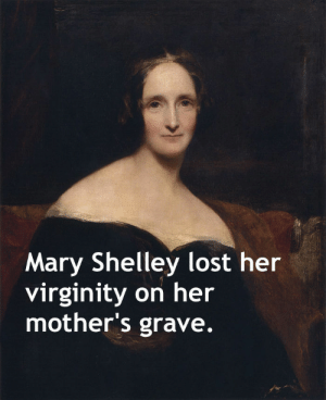 Facts, School, and Tumblr: Mary Shelley lost her  virginity on her  mother's grave. memehumor:  12 X-rated history facts they didn't teach you in school.