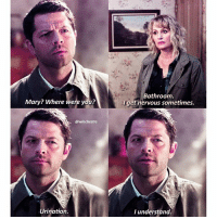 [12.12] Castiel is such a dork and I love him so so much. . QOTD: whos your favorite underrated character in spn? . Aotd: Kevin or Chuck . . . New ep tomorrow! Be sure to click the link in my bio and download showgo to watch and comment along with us!😊💕💕💕 . . . . . . . supernatural spn spnfamily cw destiel jensenackles jaredpadalecki mishacollins deanwinchester samwinchester castiel cas akf season12 marywinchester samanthasmith samsmith: Mary? Where were you?  @winchestrs  Urination  Bathroom  get nervous sometimes.  I understand. [12.12] Castiel is such a dork and I love him so so much. . QOTD: whos your favorite underrated character in spn? . Aotd: Kevin or Chuck . . . New ep tomorrow! Be sure to click the link in my bio and download showgo to watch and comment along with us!😊💕💕💕 . . . . . . . supernatural spn spnfamily cw destiel jensenackles jaredpadalecki mishacollins deanwinchester samwinchester castiel cas akf season12 marywinchester samanthasmith samsmith