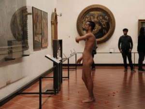 marycp2011:  stickybitch: relijion:  A naked Spanish men throws flower petals at the picture of the Birth of Venus by Botticelli      Not a cell phone in sight. Just people living in the moment    Shut up boomer   Shut the fuck upBOOMER. : marycp2011:  stickybitch: relijion:  A naked Spanish men throws flower petals at the picture of the Birth of Venus by Botticelli      Not a cell phone in sight. Just people living in the moment    Shut up boomer   Shut the fuck upBOOMER.
