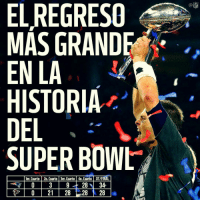 Memes, 🤖, and Int: MAS GRANDE  EN LA  HISTORIA  DEL  SUPER BOWL  1er Cuarto 20. Cuarto 3er Cuarto 40. Cuarto OT/FINAL  21 28 28 28  InTS  NFL No digan que fue un simple regreso... es EL REGRESO. 🙌🏽 patriots sb51 nfl superbowl