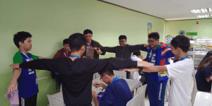 Physical, Mase, and Boys: MASE  IGH  PHYSICAL  EDUCATION Me and the boys T-posing at our friend while eating in the canteen