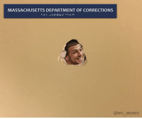 Memes, Photoshop, and Massachusetts: MASSACHUSETTS DEPARTMENT OF CORRECTIONS  (a NFL MEMES (LINK IN BIO) The best Odell Beckham's wall punch photoshops