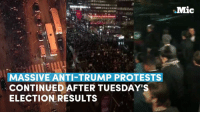 Barack Obama and Hillary Clinton both conceded defeat to Donald J. Trump and urged a peaceful transfer of power — but the people do not agree.: MASSIVE ANTI-TRUMP PROTESTS  CONTINUED AFTER TUESDAY'S  ELECTION RESULTS  Mic Barack Obama and Hillary Clinton both conceded defeat to Donald J. Trump and urged a peaceful transfer of power — but the people do not agree.