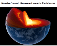 Apple, Creepy, and Target: Massive 'ocean' discovered towards Earth's core sixpenceee:  space-transgressor:  mopedsandbullshit:  blacksupervillain:  piccolowasablackman:  sixpenceee:  A reservoir of water three times the volume of all the oceans has been discovered deep beneath the Earth's surface. The finding could help explain where Earth's seas came from. The water is hidden inside a blue rock that lies 700 kilometres underground in the mantle, the layer of hot rock between Earth's surface and its core. Some geologists think water arrived in comets as they struck planets, but the new discovery supports an alternative idea that the ocean oozed out of Earth's interior layer. SOURCE  OH MY GODDDDDDD -NERDS OUT-  That's where the lizard people live Watch  mind blown  WHAT THE FUCK  I just wanna point something out. You know how you always see those pictures of the strange types of fish that live in the deep, deep sea? like this one  or this one  and this one   If any and if possible imagine what the fish look like in the DEEP, DEEP sea.  I'm smelling a million dollar creepy story.