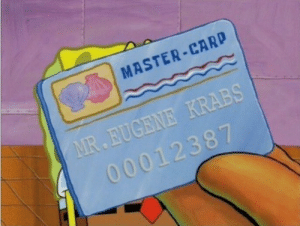 as soon as i figure out that 3 digit security code we all eatin: MASTER-CARD as soon as i figure out that 3 digit security code we all eatin