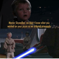 """<p>Don&rsquo;t joke about pizza via /r/memes <a href=""""http://ift.tt/2xgNwIW"""">http://ift.tt/2xgNwIW</a></p>: Master Skywalker, we didn't know what you  wanted on your pizza so we ordered pineapple <p>Don&rsquo;t joke about pizza via /r/memes <a href=""""http://ift.tt/2xgNwIW"""">http://ift.tt/2xgNwIW</a></p>"""