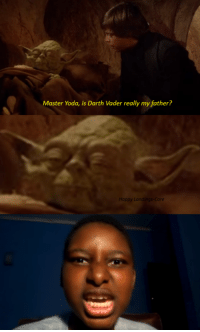 Yeah boi: Master Yoda, is Darth Vader really my father?  Happy Landings Core Yeah boi
