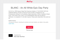 West Indian: mastup  BLANC - An All White Epic Day Party  8.25.18 5 to 10PM Heaven Skate Park Downtown Hartford, CT AN EVENT WITH NO  HORIZON Raising The Bar for Premium Events. BLANC is Designed for The  Professionals Looking for An Everlasting, Desire Quenching, Outdoor Caribbean Infused  Event. That is More Than a Party. It's an EXPERIENCE! Must wear all white for  admission, no exceptions! 21 and older required. Please party responsibly. We would love  for...  Public Group  This group's content, including its members and event details, are visible to the public.  Learn more.  Join us  Find out more  Organized by  West Indian Girls Rock  gins rock
