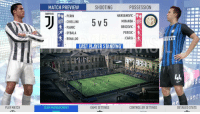 Fifa, Memes, and Game: MATCH PREVIEW  SHOOTING  POSSESSION  UDENTUS  PERIN  CHIELLINI  PJANIC  DYBALA  RONALDO  HANDANOVIO  MIRANDA  BROZOVIC  PERISIC  CARDI  LAST PLAYER STANDING  FIFA STREET  PLAY MATCH  TEAM MANAGEMENT  GAME SETTINGS  CONTROLLER SETTINGS  DETAILED STATS Official: FIFA 19 will feature a 5 a-side mode! 👍😯😍 Awesome