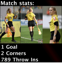We want her in UEFA Champions League games 😍: Match stats:  1 Goal  2 Corners  789 Throw Ins We want her in UEFA Champions League games 😍