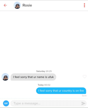 Matched with an Australian girl: Matched with an Australian girl