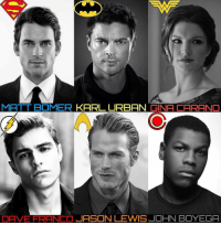 @comix.unlimited - If I had to recast the Justice League, this is my cast: Matt Bomer: Superman Karl Urban: Batman Gina Carano: Wonder Woman Dave Franco: The Flash Jason Lewis: Aquaman John Boyega: Cyborg: MATT BOMER  KARL URBAN  GINA CARANO  DAVE FRANCO  JASON LEWIS JOHN BOYEGA @comix.unlimited - If I had to recast the Justice League, this is my cast: Matt Bomer: Superman Karl Urban: Batman Gina Carano: Wonder Woman Dave Franco: The Flash Jason Lewis: Aquaman John Boyega: Cyborg