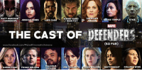 The current ensemble cast of THE DEFENDERS!  (Brian): MATT MURDOCK  DANNY RAND  UNKNOWN  CLAIRE TEMPLE  STICK  DAREDEVIL JESS  JONES  UKE CAG  IRON FIST  THE CAST OF DEFENDERS  (SO FAR)  www.facebook.com/MarvelCinematicUniverse  MALCOLM  JERIHOGAR  MISTY KNIGHT  ALK  COLLEEN WING  KAREN PAG  FOGGY NELSON  DUCASSE The current ensemble cast of THE DEFENDERS!  (Brian)