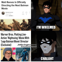 Batman, Lego, and Movies: Matt Reeves ls Officially  Directing the Next Batman  Movie  Germain Lussier  Today 2:37pm  19.0K  6  Filed to: BATMAN  v  12:45pm PT by Rebecca Ford  Warner Bros. Plotting Live-  Action Nightwing Movie With  Lego Batman Movie Director  (Exclusive)  I MWHELMED  CHALANT Good morning, y'all 🤘🏼-Shazam⚡